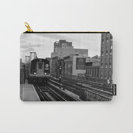 Black and White J Train Carry-All Pouch