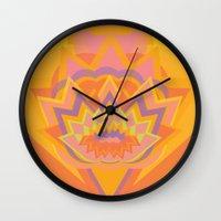chakra Wall Clocks featuring Swadhisthana Chakra by anabra
