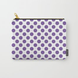 Purple Polka Dots Carry-All Pouch