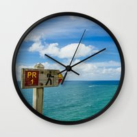 portugal Wall Clocks featuring Nazaré, Portugal. by jmiguel