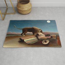 Henri Rousseau - The Sleeping Gipsy Rug