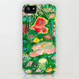 It's a sea green world iPhone Case