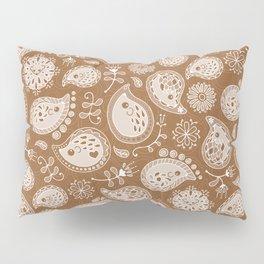 Hedgehog Paisley_Moka Pillow Sham