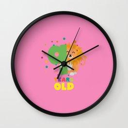 Nine Years 9th Birthday Party Lion T-Shirt D0da9 Wall Clock