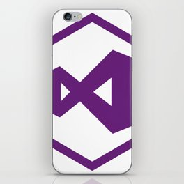 visual studio logo sticker C# developers iPhone Skin