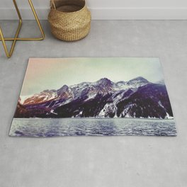 Lake and Mountains  - Nature Photography Rug