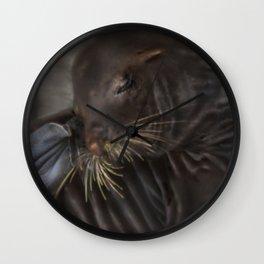 Sea Lion Itch Wall Clock