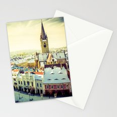 Cityscape of Sibiu, Romania Stationery Cards