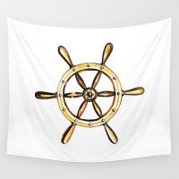 nautical Wall Tapestries featuring Nautical by kristinesarleyart