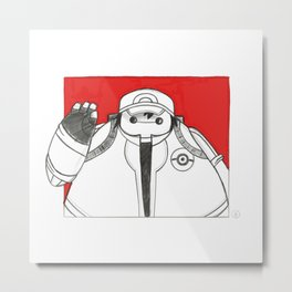 What if Baymax was Ash Metal Print