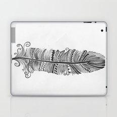 Black and White Feather Zen Laptop & iPad Skin