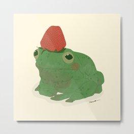 Strawberry Frog Metal Print