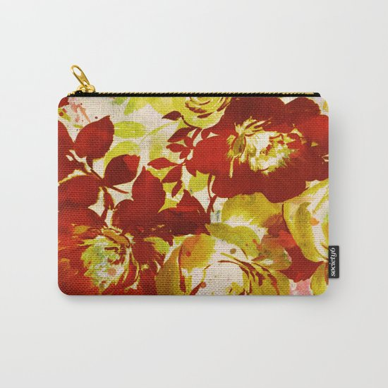 floral in red Carry-All Pouch
