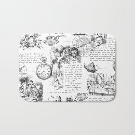 Alice in Wonderland - Pages Bath Mat