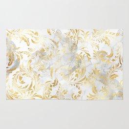 Elegant Gold swirls Rug