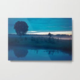 landscape of the lake at morning Metal Print