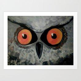 Fierce Owl Art Print