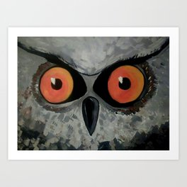 Fierce Owl Art Print