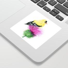 Little Goldfinch by Teresa Thompson Sticker