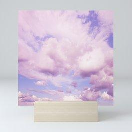 Pink Clouds In The Blue Sky #decor #society6 #buyart Mini Art Print
