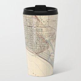 Vintage Map of Long Beach California (1923) Travel Mug