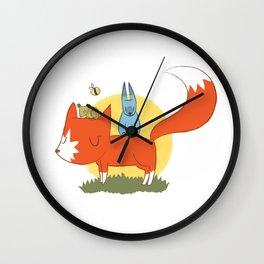 foxy friends. Wall Clock