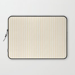 Classic Small Buttercup Yellow Pastel Butter French Mattress Ticking Double Stripes Laptop Sleeve