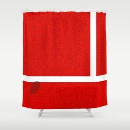 """""""IN"""" – Hawk-Eye – Sand Shower Curtain"""