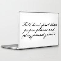 lyrics Laptop & iPad Skins featuring Lyrics by Lucy Helena