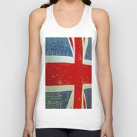 union jack Tank Tops featuring  Union jack Flag by  Alexia Miles photography