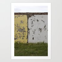 tetris Art Prints featuring tetris by Jan Luzar