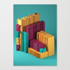 Typographic Insults #3 Canvas Print