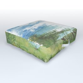 Summer by a lake Outdoor Floor Cushion