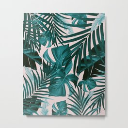 Tropical Jungle Leaves Pattern #3 #tropical #decor #art #society6 Metal Print