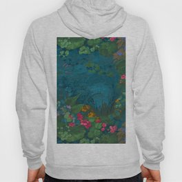 Paper Repeating Pattern - 1860 Fantasy Floral Pond Luxury Romantic Leaves Hoody