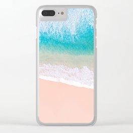 Ocean in Millennial Pink Clear iPhone Case
