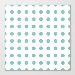 Chalky Blue Polka Dots Canvas Print