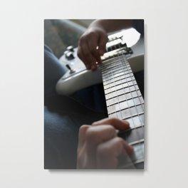 Hands on guitar Metal Print