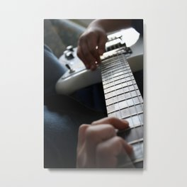 Hands on guitar Metal Print