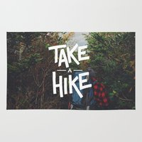 backpack Area & Throw Rugs featuring Take A Hike by Zeke Tucker