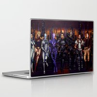 garrus Laptop & iPad Skins featuring Mass Effect - Team of Awesomness by Amber Hague