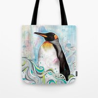 king Tote Bags featuring KING by Mat Miller
