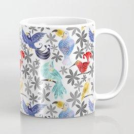 Rainforest Birds in Watercolor Coffee Mug