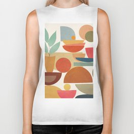 Modern Abstract Art 78 Biker Tank