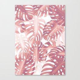 Rose gold tropical plant Canvas Print
