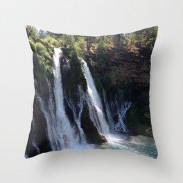 McArthur-Burney Falls Throw Pillow
