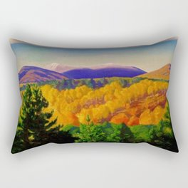 Autumn Mountain Landscape & Orchards by Rockwell Kent Rectangular Pillow