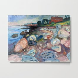Edvard Munch - Shore with Red House Metal Print