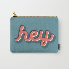 Hey Blue & Red Typography Print Funny Poster Letterpress Style Wall Decor Home Decor Carry-All Pouch
