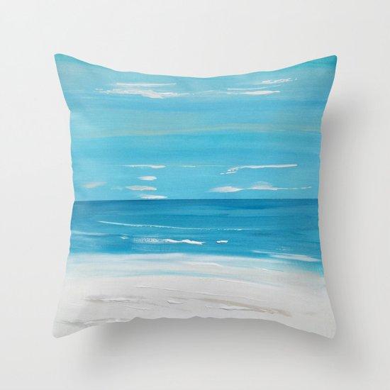 Beachfront Seascape Throw Pillow